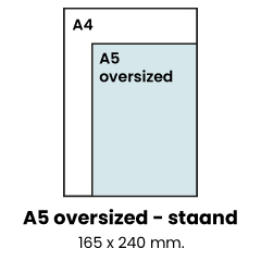 A5 oversized - staand